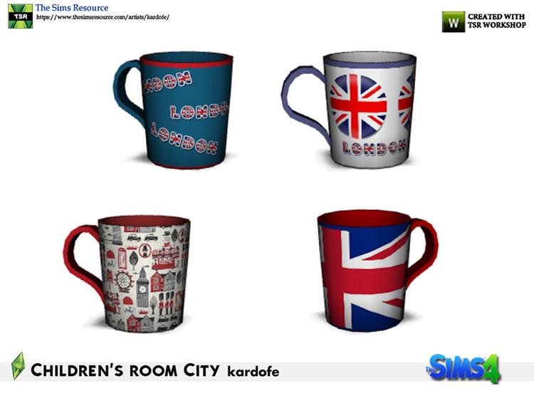 London Mug CC for The Sims 4