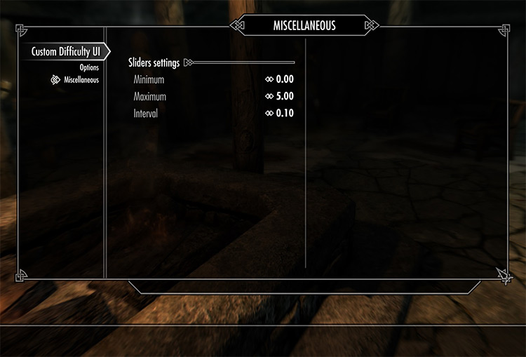 Custom Difficulty UI for Skyrim