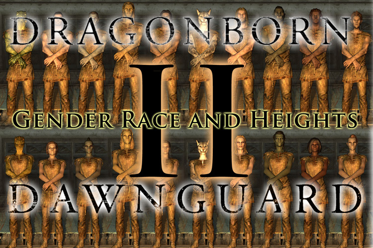 Gender & Race Heights Mod for Skyrim