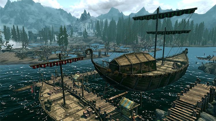 Viking-Style Ship Sails Mod