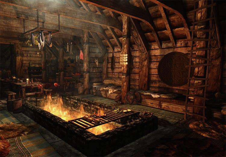 Viking's Longhouse Mod for Skyrim