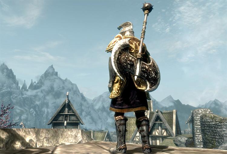 Viking Spawn Axe Weapon for Skyrim