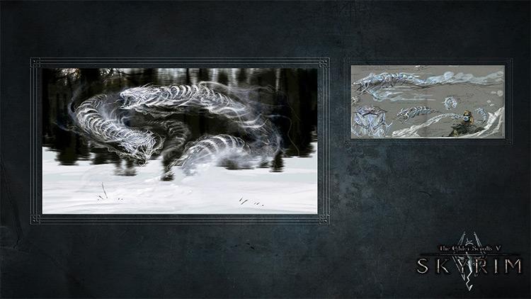 Loading Screens Artworks Skyrim Mod