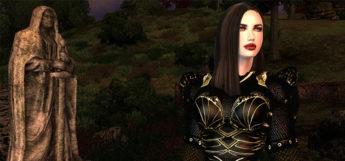 Black haired girl in Oblivion - Vampire Race Reloaded Mod Screenshot