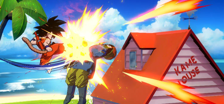 Kame House Stage in Dragonball FighterZ Game