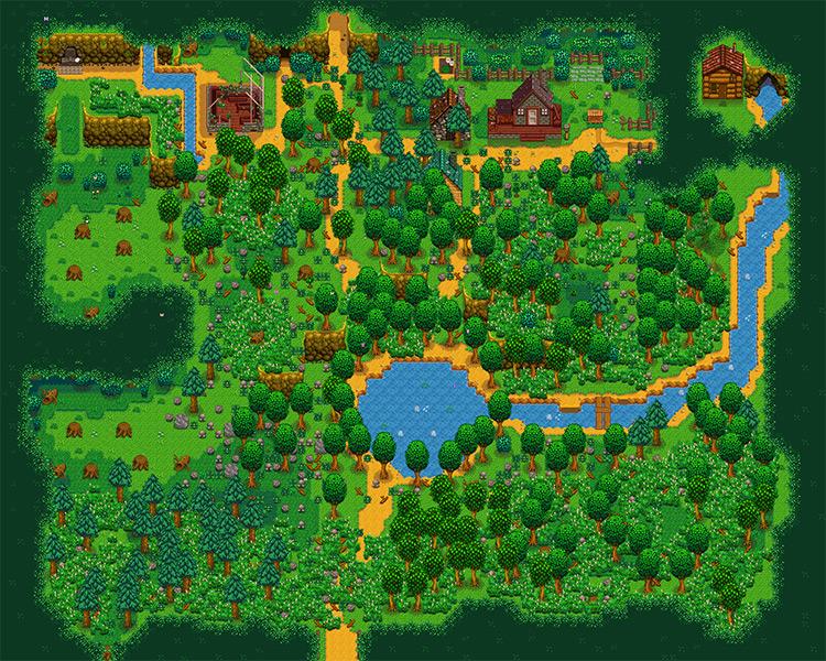 Grandpa's Grove Foraging Farm Map