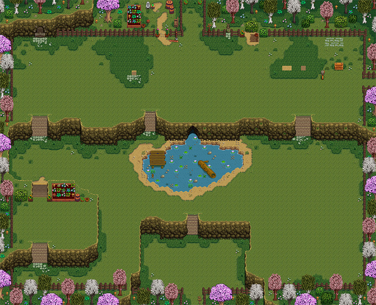 Ali's Flower Farm Map