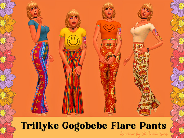 Gogobebe Flare Pants - Bellbottoms for The Sims 4