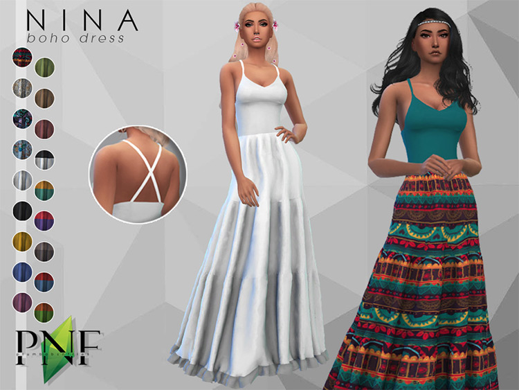 Nina Fairy Dress - Sims 4 CC