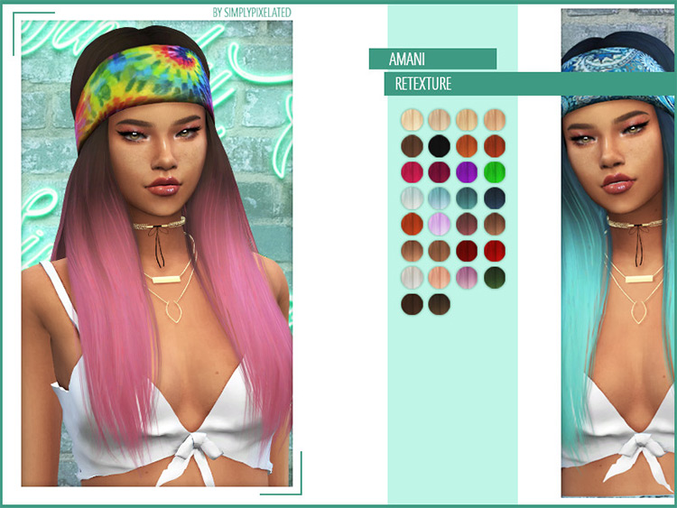 Amani Retextured Mod for Sims 4