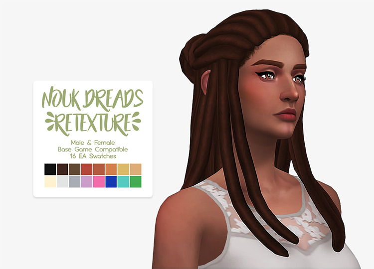 Nouk Dreads Sims 4 CC