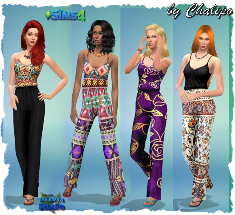 Outfits and Shorts CC for Sims 4