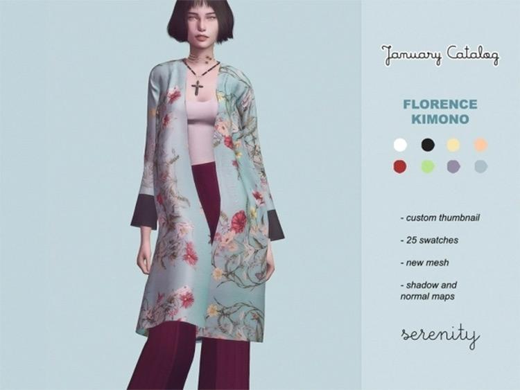 Florence Kimono Mod for Sims 4