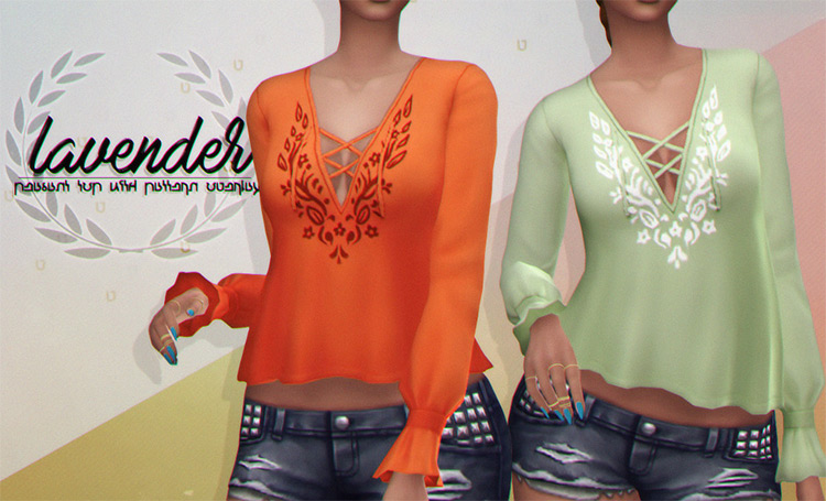 Peasant Top CC for TS4