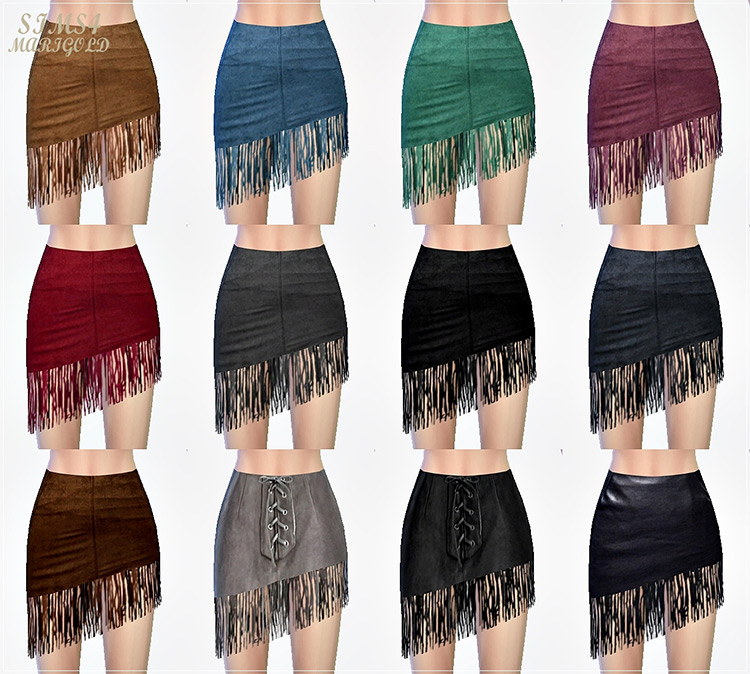 Fringe Mini Skirt for The Sims 4