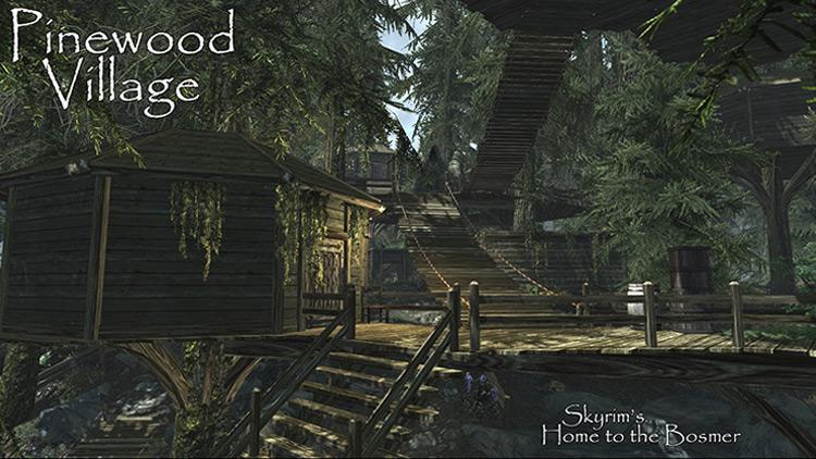 Skyrim Pinewood Village Mod screenshot