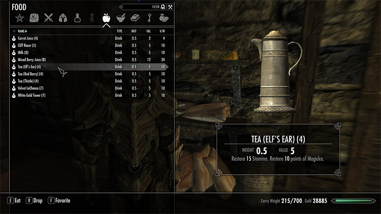 Drinks for the Thirsty Mod in Skyrim