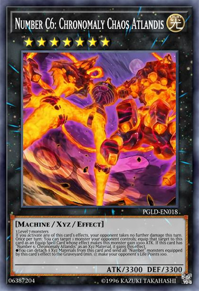 Number C6: Chronomaly Chaos Atlandis YGO Card