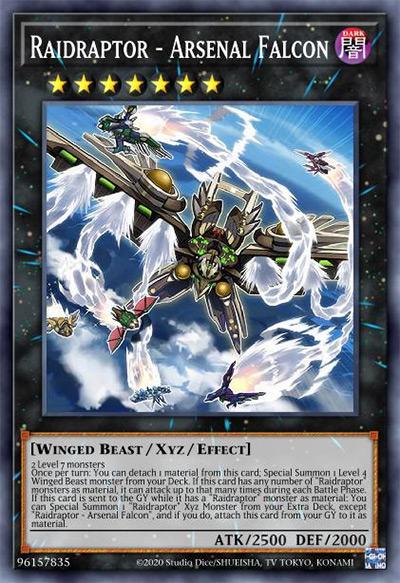 Raidraptor - Arsenal Falcon Yu-Gi-Oh Card