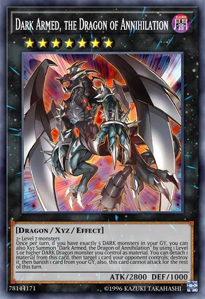 Dark Armed, the Dragon of Annihilation YGO Card