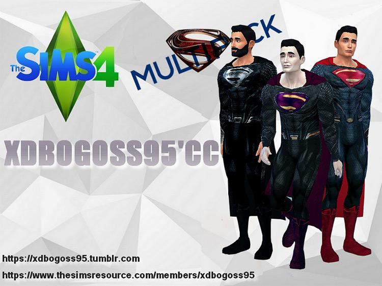 Superman DC Cinematic Universe Multipack / Sims 4 CC
