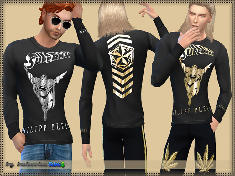 Stylish Superman Shirt / Sims 4 CC