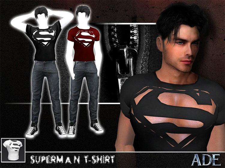 Sexy Superman T-Shirt for The Sims 4