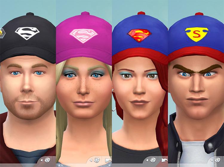 Superman Logo Hats / TS4 CC