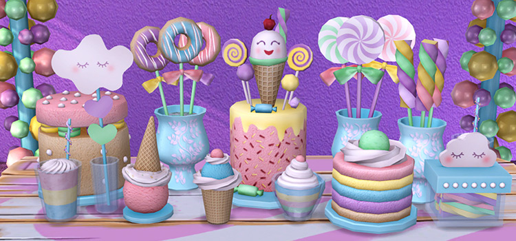 TS4 Sweets Decor Items Preview