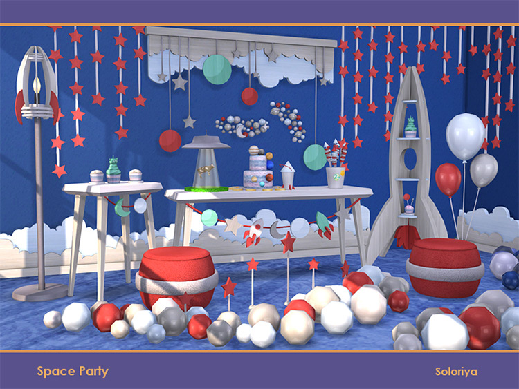 Space Party Stuff for The Sims 4