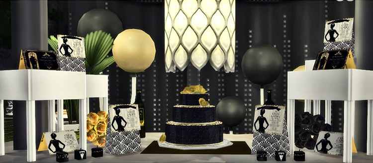 Great Gatsby 1920s Party Decor / Sims 4 CC