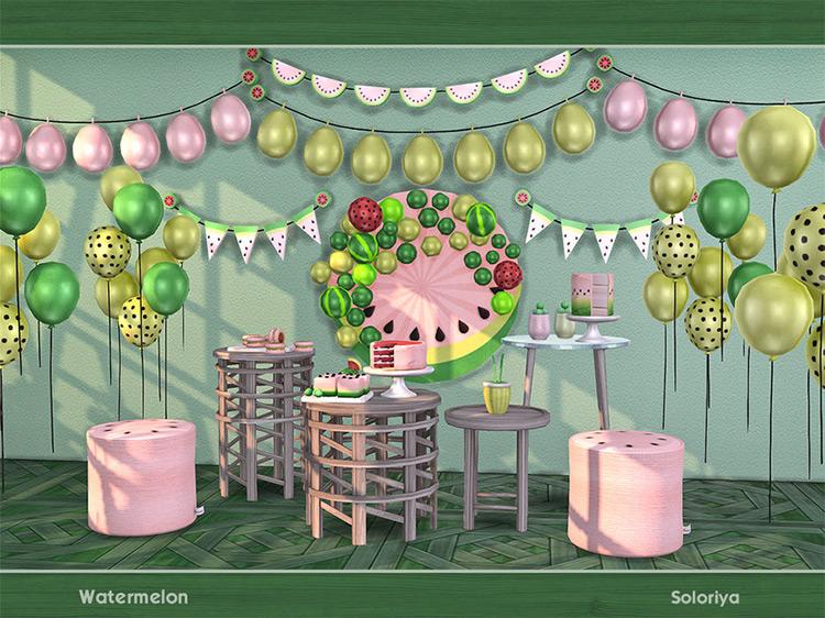 Watermelon Party Décor / Sims 4 CC