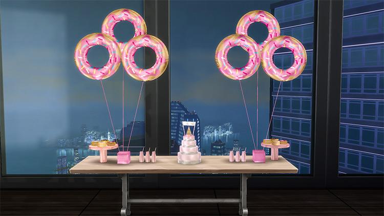 Donut Birthday Stuff / Sims 4 CC