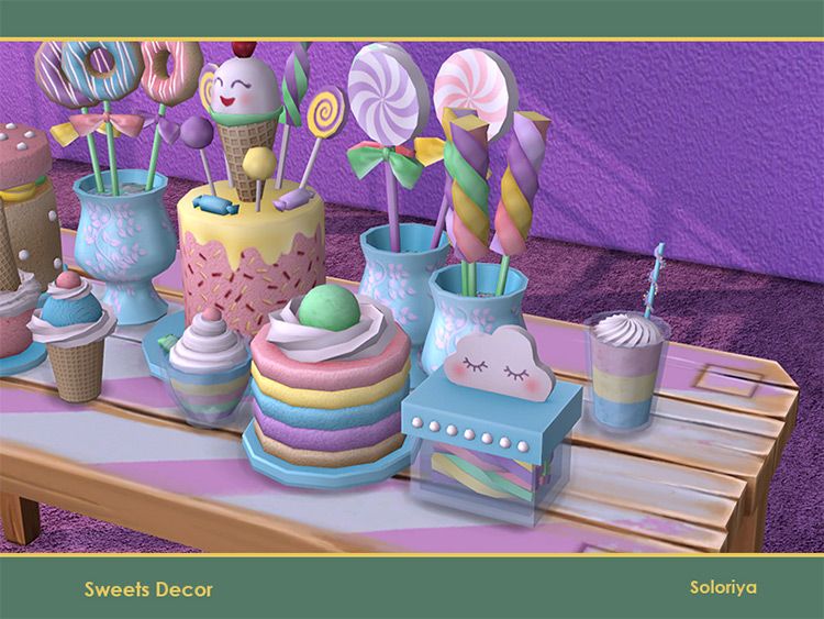 Sweets Décor / TS4 CC