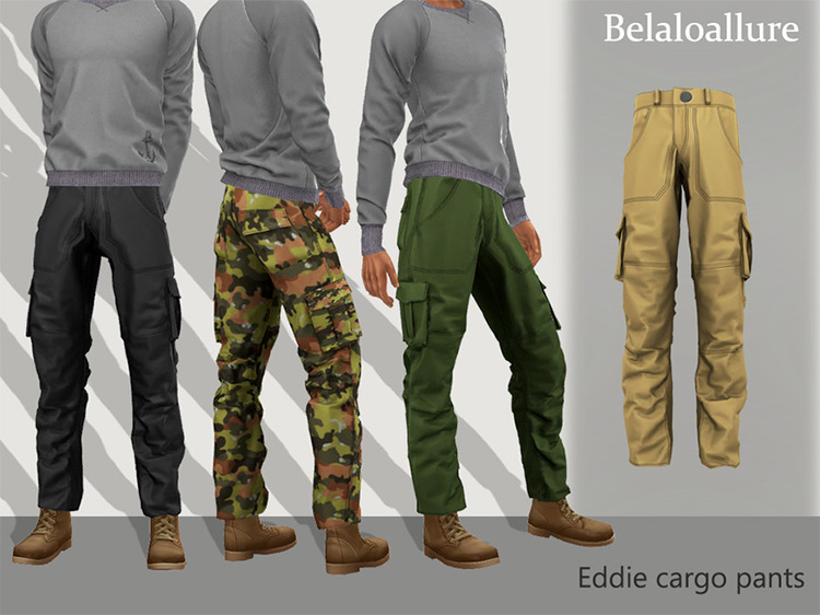Eddie Cargo Pants / Sims 4 CC