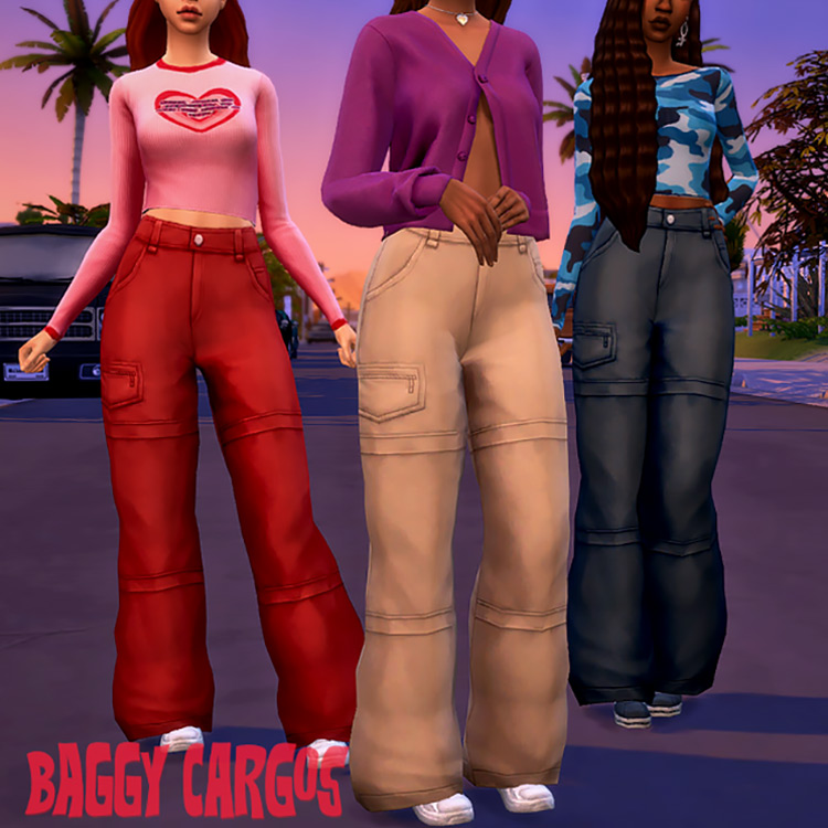 Baggy Cargo Pants for The Sims 4