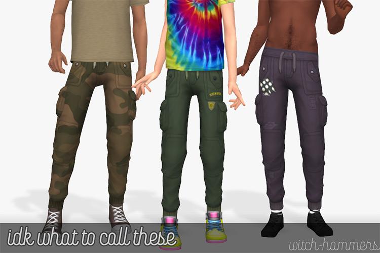 Simple Tight Cargo Pants / TS4 CC