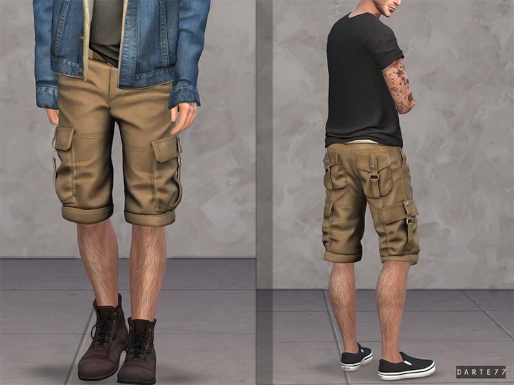 Cargo Shorts Guys / Sims 4 CC