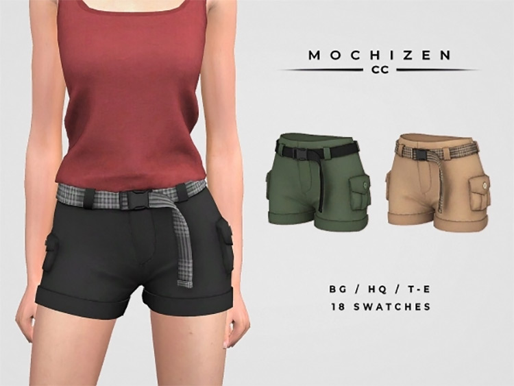 Belted Cargo Shorts / TS4 CC