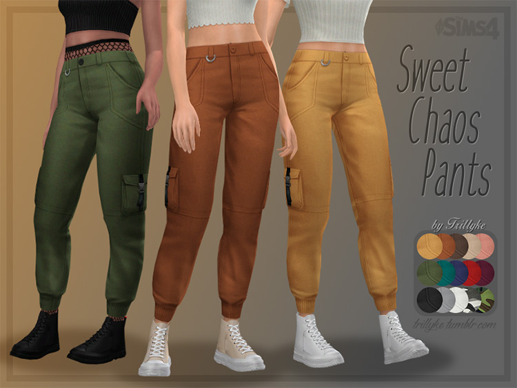 Sweet Chaos Maxis Match Cargo Pants for The Sims 4