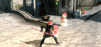 Candy Cane Weapon Mod for Skyrim Christmas