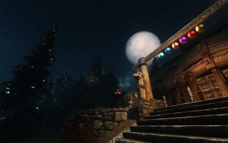 Christmas Lanterns mod for Skyrim