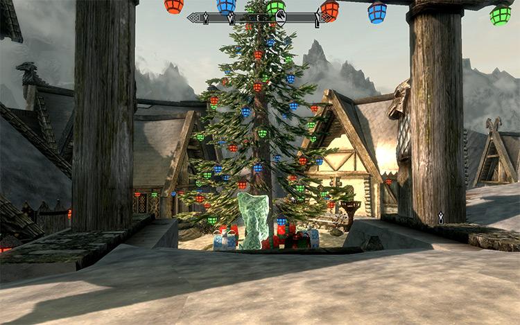 Christmas in Whiterun / Skyrim Mod