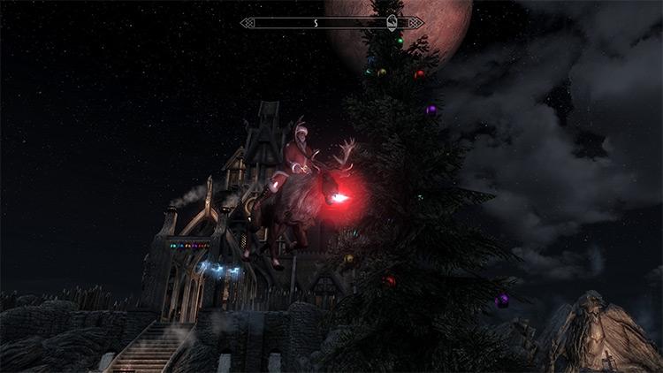 Christmas Flying Mount / Skyrim mod