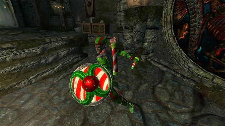 Christmas Festive Armor mod for Skyrim