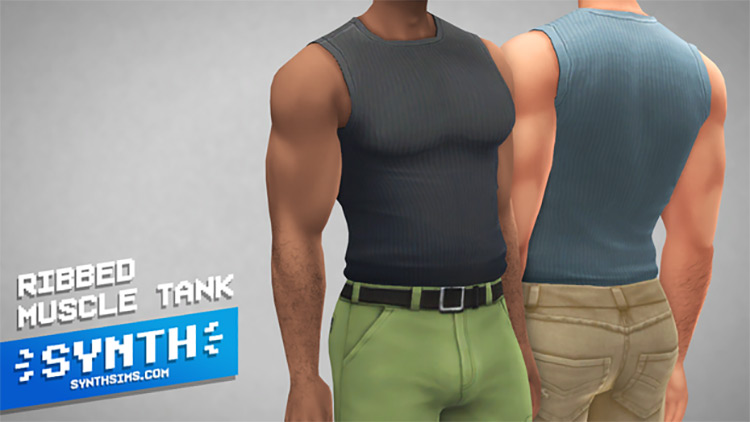 Ribbed Muscle Tank / Sims 4 CC
