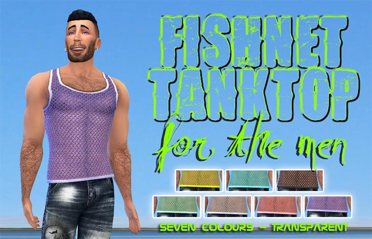 Fishnet Male Tank Top / Sims 4 CC