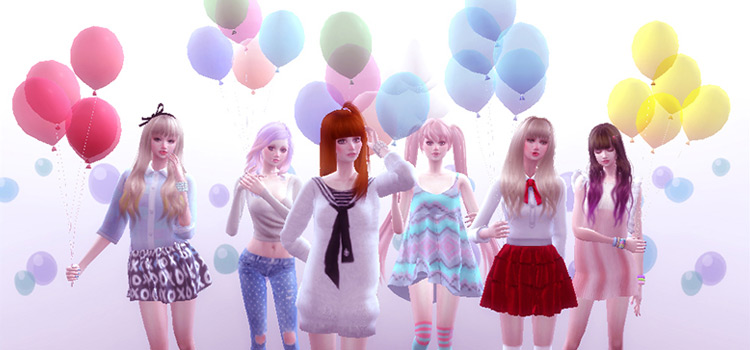 Balloons and Poses Pack / The Sims 4