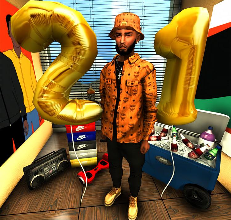 Birthday Number Balloons / TS4 CC