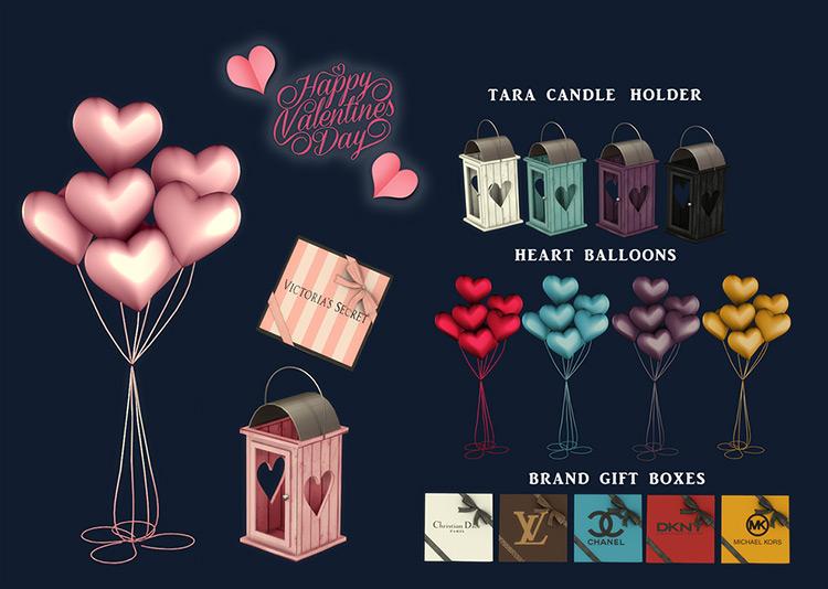 Happy Valentine's Day Balloons Set / TS4 CC